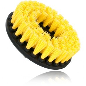 BRUSH WITH DRILL ADAPTER MEDIUM-DUTY (YELLOW)
